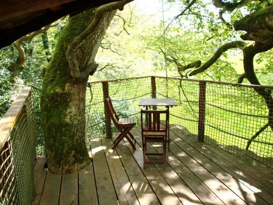 La terrasse de la cabane